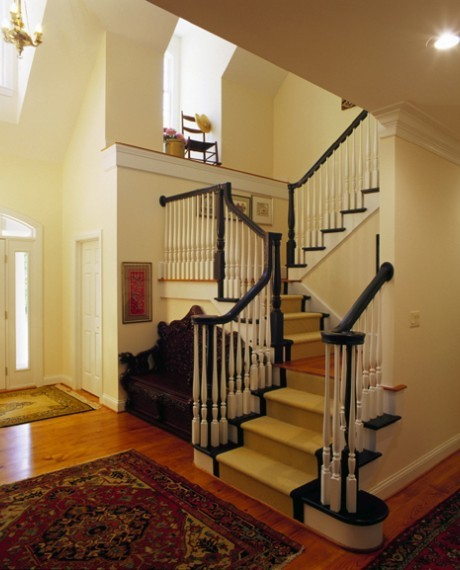 France and England style staircase