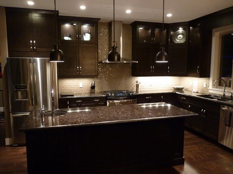 Dark Colored Kitchen Cabinets