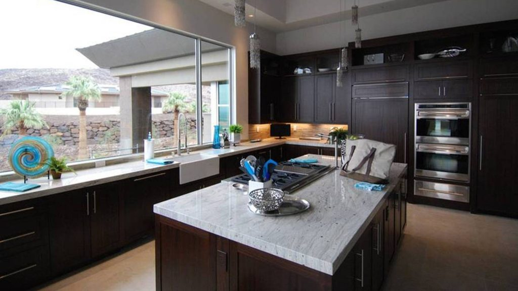 Dark Kitchen Color With Light Color Cabinets