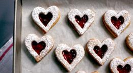 Heart-shaped Linzer Cookies for Valentine's Day