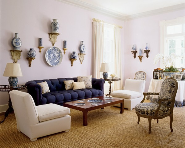Living room design of Aerin Lauder