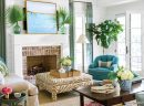 Home Interior Decorating with Flower Arrangements in Living Room