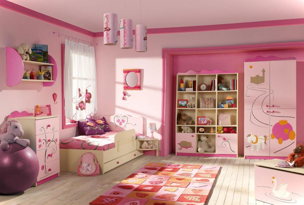 girls bedroom ideas pink color
