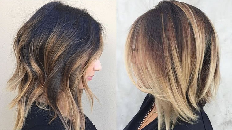 2019 Hairstyles With Bangs: Lob Hairstyles 2019